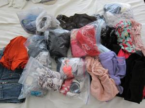 Unpacking and repacking my stuff, La Paz, Mexico
