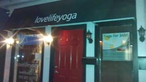 Love Life Yoga studio on Woodbridge Avenue
