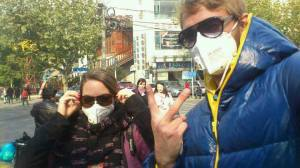 Masks against pollution in China