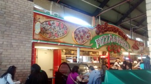 Pizza at St. Lawrence Market, Toronto.