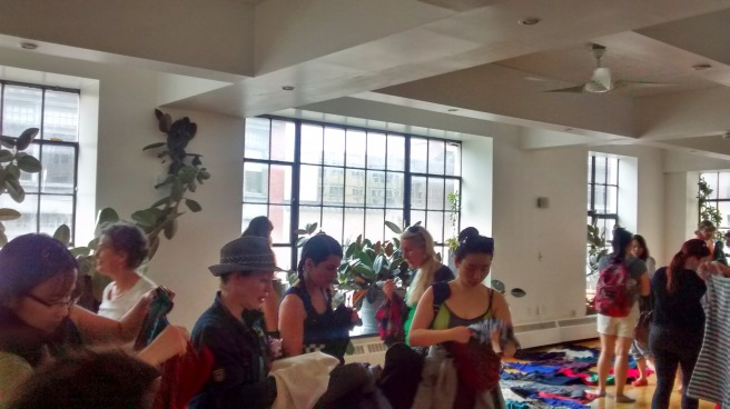 Clothing swap, Yoga lounge.