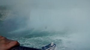 Maid of the mist, Niagara Falls, Canada.