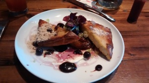 Duck Confit French Toast, Origins, Toronto.
